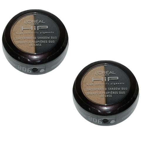 Pack of 2 L'Oreal HIP Concentrated Eye Shadow Duo, Mischief 908