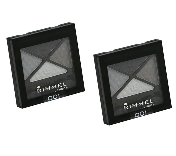 Pack of 2 Rimmel London Glam Eyes Quad Eye Shadow, Smokey Noir 001