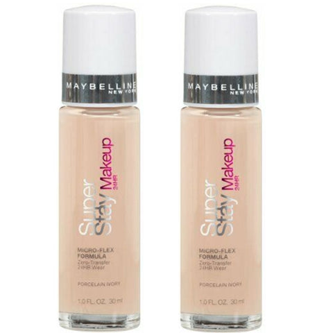 Pack of 2 Maybelline Super Stay 24 Hr Wear Makeup, Porcelain Ivory