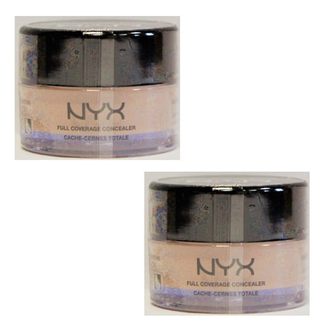 Pack of 2 NYX Full Coverage Concealer, Nude Beige CJ03.5