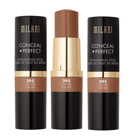 Pack of 3 Milani Conceal + Perfect Foundation Stick, Cocoa 295