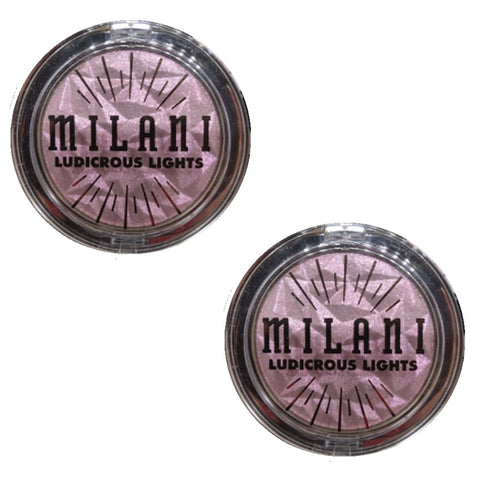 Pack of 2 Milani Ludicrous Lights Duo Chrome Highlighter, Peach-Ella 120