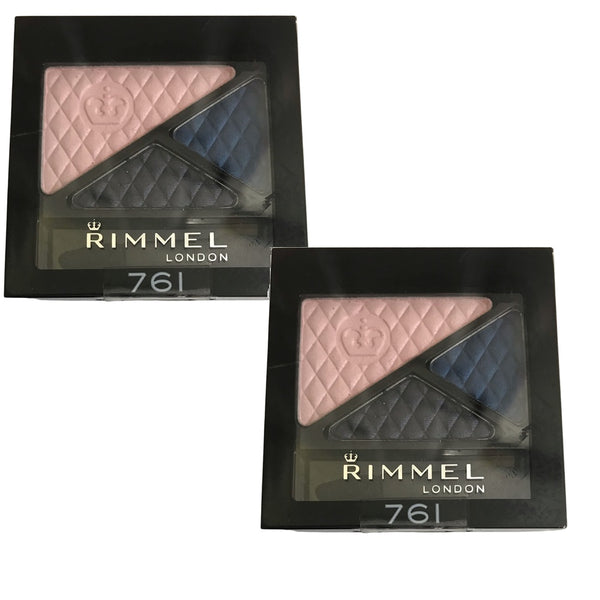 Pack of 2 Rimmel London Glam Eyes Trio Eyeshadow, Sapphire Moonstone 761