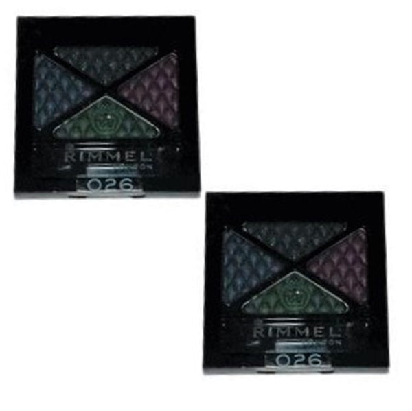 Pack of 2 Rimmel London Glam Eyes Quad Eye Shadow, Precious Crown 026