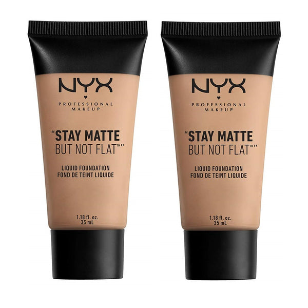 Pack of 2 NYX Professional Stay Matte But Not Flat Liquid Foundation, Soft Sand SMF04.5