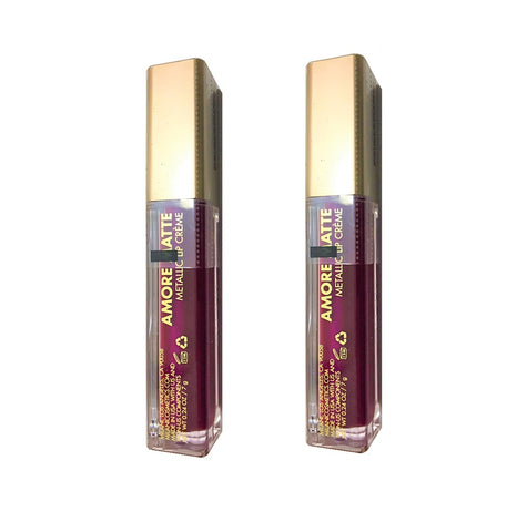Pack of 2 Milani Amore Matte Metallic Lip Creme, Automatic Touch 07