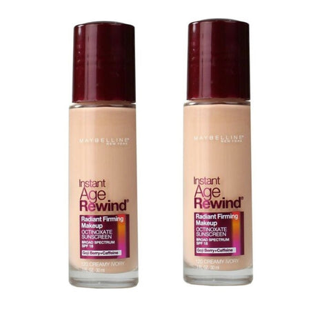 Pack of 2 Maybelline Instant Age Rewind Radiant Firming Makeup, Creamy Ivory 120