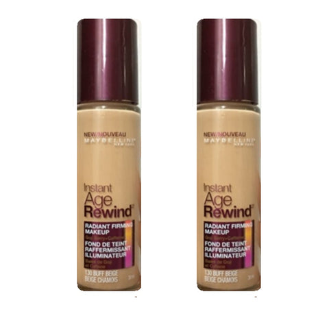 Pack of 2 Maybelline Instant Age Rewind Radiant Firming Makeup, Buff Beige 130