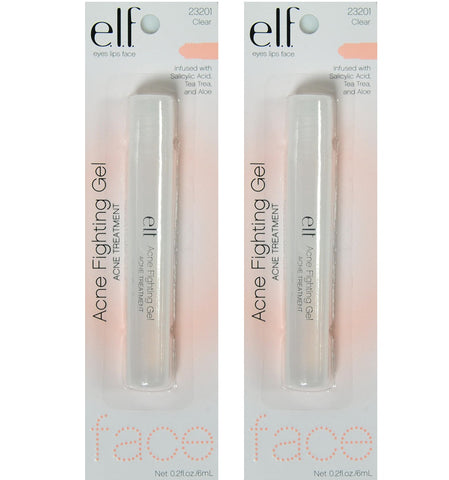 Pack of 2 e.l.f. Acne Fighting Gel Acne Treatment, 23201 Clear