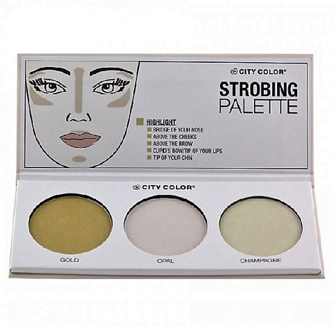 Pack of 2 City Color Strobing Palette, Highlight - F0064
