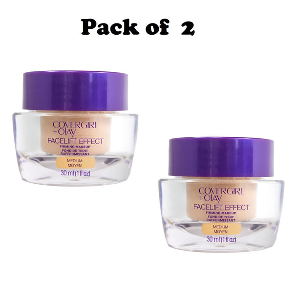Pack of 2 Covergirl + Olay Facelift Effect Firming Makeup, Medium