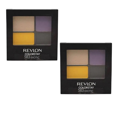 Pack of 2 Revlon ColorStay 16 Hour Eye Shadow, Exotic 583