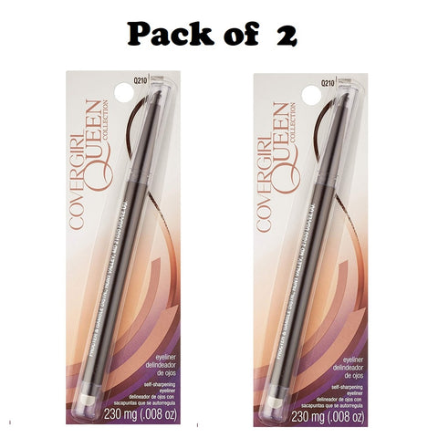 Pack of 2 CoverGirl Queen Collection Eyeliner, Espresso Q210