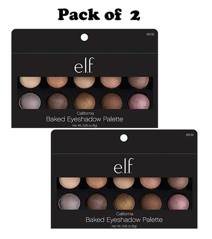Pack of 2 e.l.f. Baked Eyeshadow Palette, California 85132
