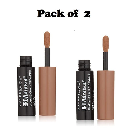 Pack of 2 Maybelline New York Brow Drama Shaping Chalk Powder