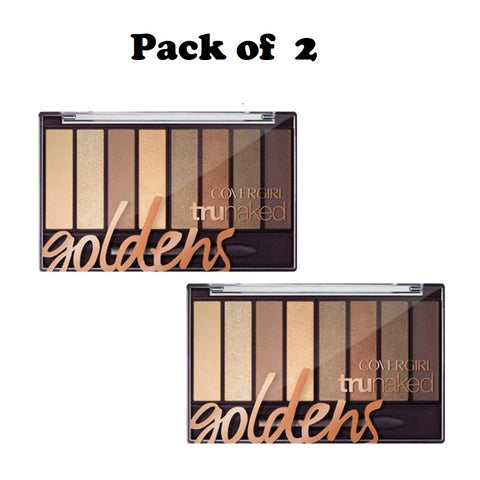 Pack of 2 CoverGirl trunaked Eye Shadow, Goldens 810