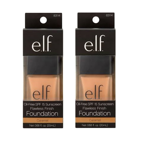 Pack of 2 e.l.f. Flawless Finish Foundation, Caramel 83114
