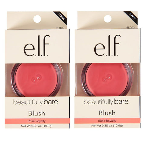 Pack of 2 e.l.f. beautifully bare Blush, Rose Royalty (95002)