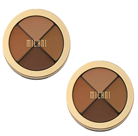 Pack of 2 Milani Conceal + Perfect All-in-One Concealer Kit, Dark to Deep 04
