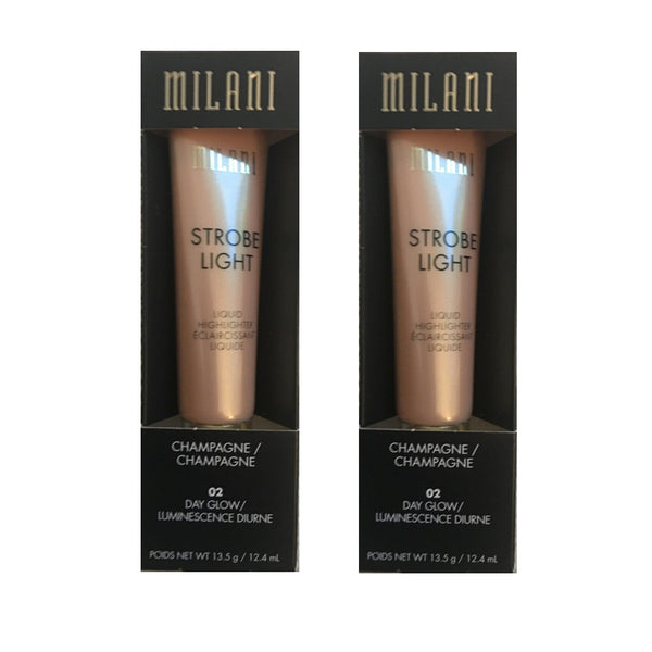 Pack of 2 Milani Strobe Light Liquid Highlighter, Day Glow 02