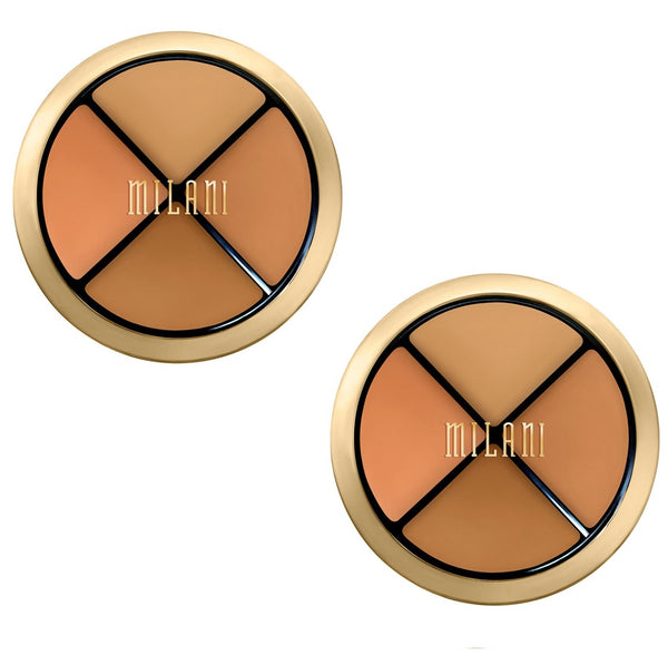 Pack of 2 Milani Conceal + Perfect All-in-One Concealer Kit, Medium to Dark 03