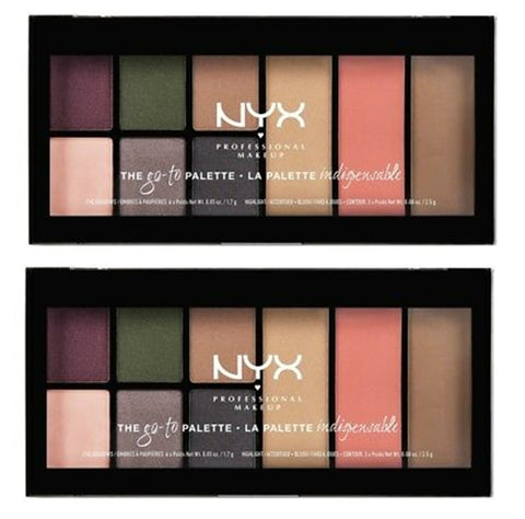 Pack of 2 NYX The Go-To Palette in Bon Voyage GTP02