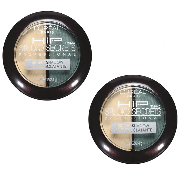 Pack of 2 L'Oreal Paris HIP Studio Secrets Bright Shadow Duo, Flashy 318
