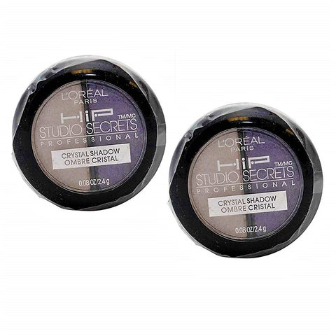 Pack of 2 L'Oreal Paris HIP Studio Secrets Crystal Eye Shadow Duo, Charming 519