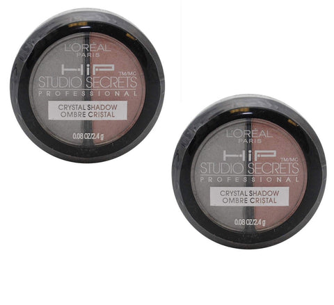 Pack of 2 L'Oreal HIP Studio Secrets Crystal Eye Shadow Duo, 919  Romantic
