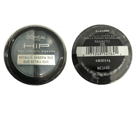 Pack of 2 L'Oreal Paris HiP  Metallic Duos, Magnetic 206