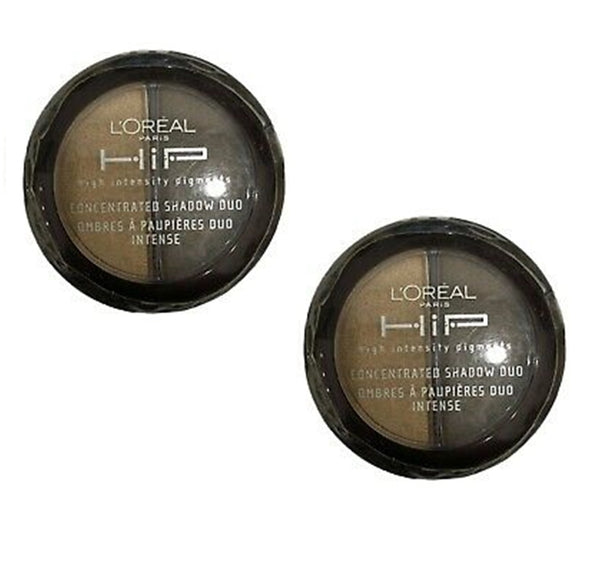 Pack of 2 L'Oreal HIP Concentrated Eye Shadow Duo, 828 Dynamic
