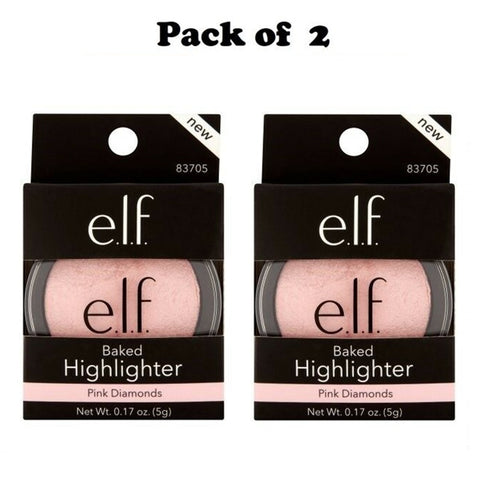 Pack of 2 e.l.f. Baked Highlighter, Pink Diamonds 83705