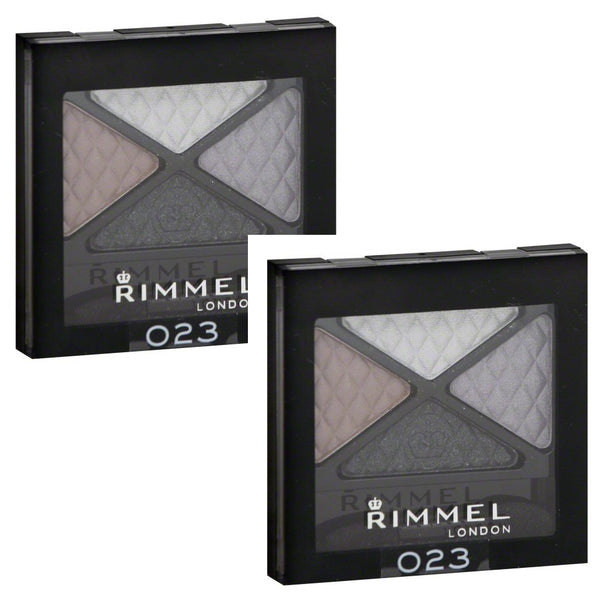 Pack of 2 Rimmel London Glam Eyes Quad Eye Shadow, Beauty Spells 023