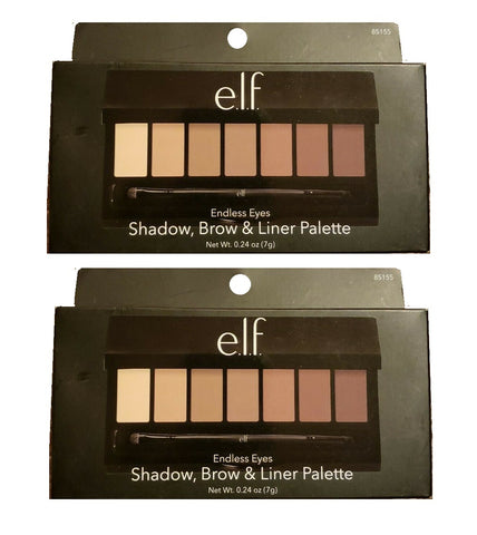 Pack of 2 e.l.f. Endless Eyes Shadow, Brow & Liner Palette, 85155