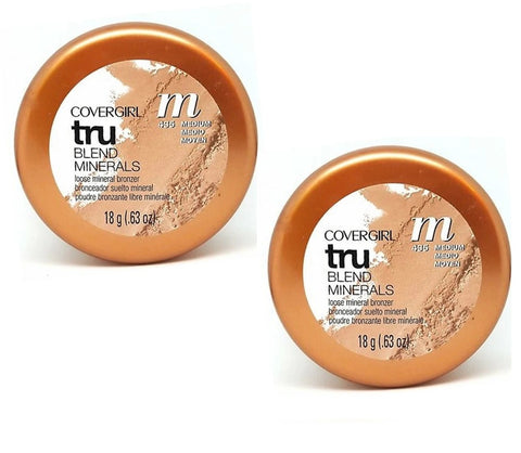 Pack of 2 CoverGirl tru BLEND Minerals Loose Mineral Bronzer, Medium Golden Sunrise 435