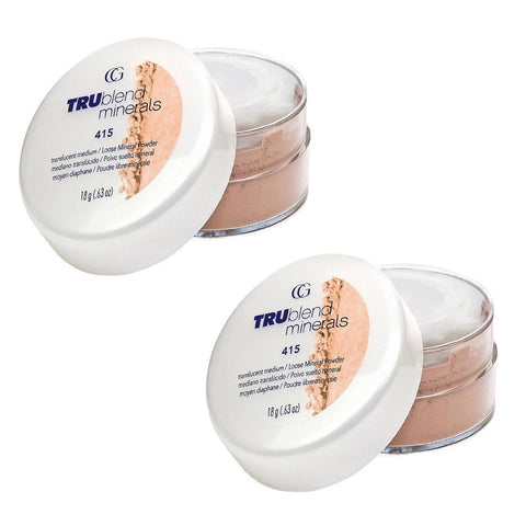 Pack of 2 CoverGirl tru BLEND Minerals Loose Mineral Powder, Translucent Medium 415