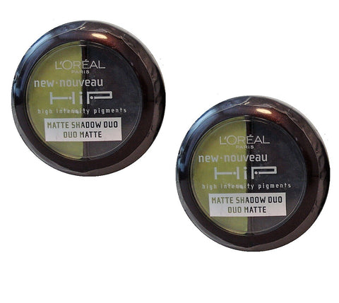 Pack of 2 Loreal HIP Matte Shadow Duo, Perky 307