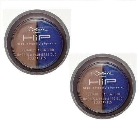Pack of 2 L'Oreal Paris HIP Bright Shadow Duo, Roaring 234
