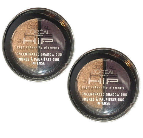 Pack of 2 L'Oreal HIP Concentrated Eye Shadow Duo, Wicked 536