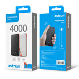 Astrum 4000mAh Power Bank Detachable Micro USB Cable - PB400 White