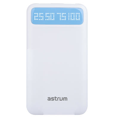 Astrum 8000mAh Universal Dual USB Power Bank 2A  - PB780 Black