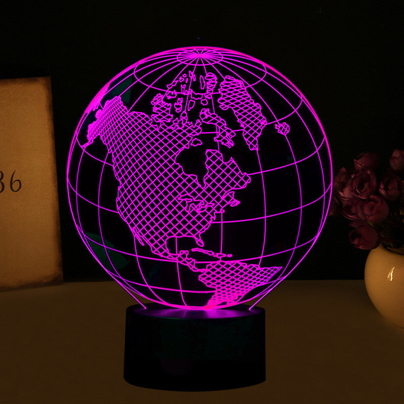 Globe america world map led 3d illusion light touch lamp pandafoo globe america world map led 3d illusion light touch lamp gumiabroncs Choice Image
