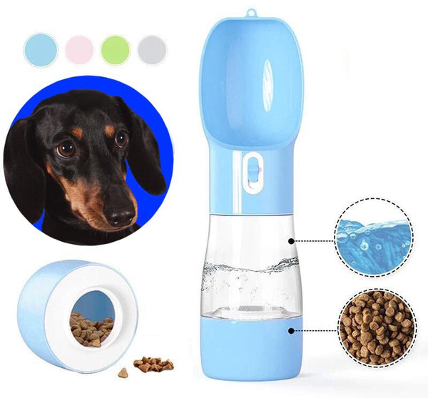 Portable Dual-Design Water Bottle and Feeder