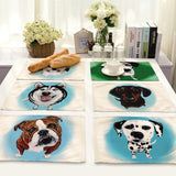 Table Placemat with Husky Design