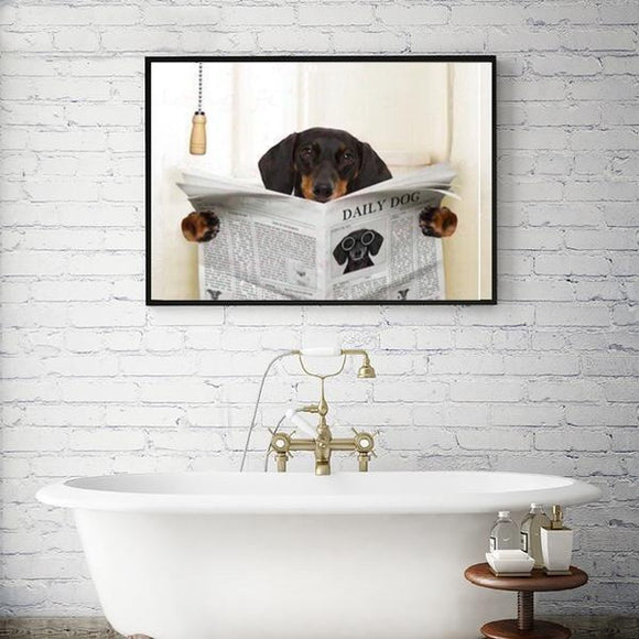 Bathroom Artwork Dachshund
