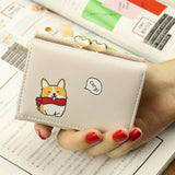 Women's Corgi Wallet Ladies Short Leather Purses Clutch