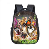 Small Backpack With Dogs