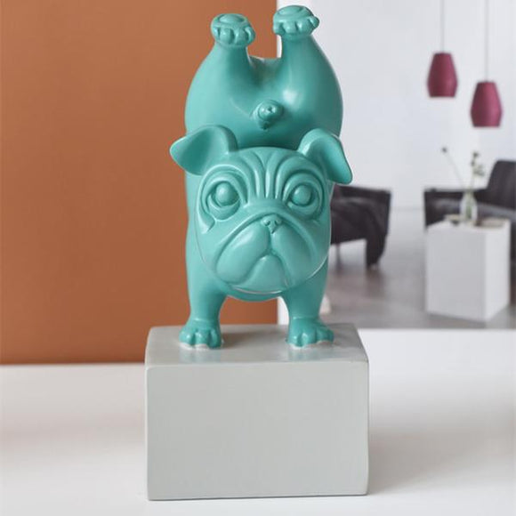 Yoga Dog Resin Sculpture