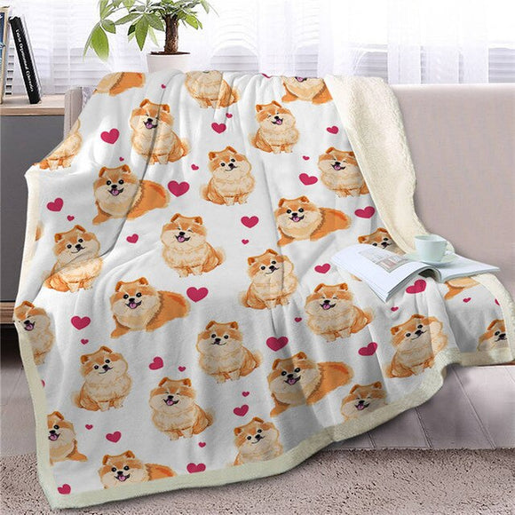 Sherpa Fleece Blanket Pomeranian