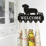 Dachshund Coat And Key Wall Rack